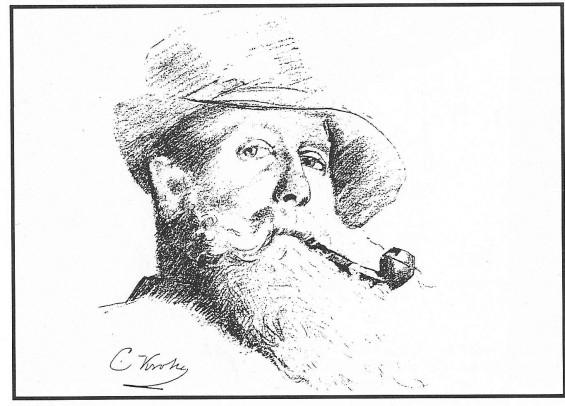 Selvportrett av Christian Krohg.