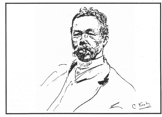 Ludvig Skramstad tegnet av Christian Krogh