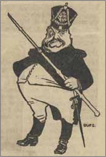 Det har blitt sagt at tegneren Olaf Gulbransson fant inspirasjon i konsul og kjøpmann Martin Skanckes skikkelse da han skapte sin major som illustrasjon til Vilhelm Krags «Major von Knarren». Men helt sikre kan vi ikke være. Andre har hevdet at det er den danske skuespilleren Olaf Poulsen som løytnant von Buddinge i J. Chr. Hostrups komedie «Genboere» som har vært Gulbranssons modell.