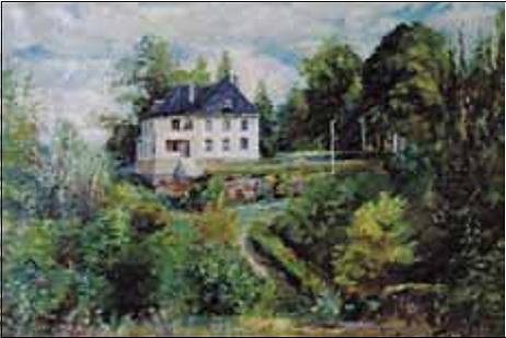 Murbygningen på Ullerud ble reist i samme stil etter brannen i 1914. (Foto fra Pensjonistnytt 3/2004).