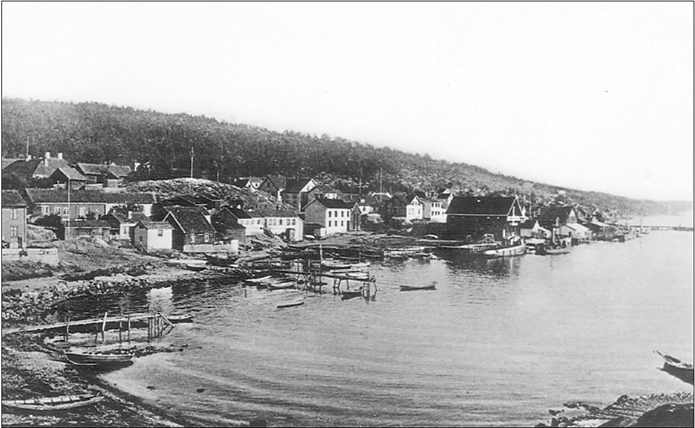 «Båthavna» i Drøbak før vi fikk Molo A.