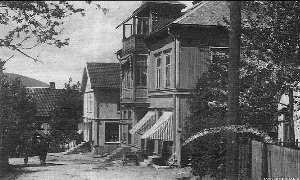 Lindtruppbakken ca. år 1900.