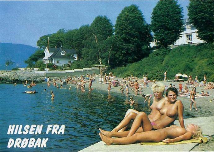 Parrstranda en strålende sommerdag for ikke mange år siden.