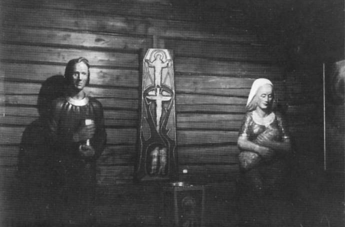 Tre skulpturer