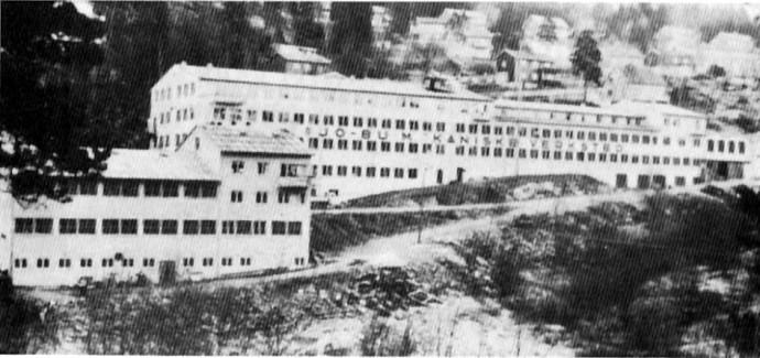JO-BU Mek. verksted med Brødrene Krångs mek.verksted i forgrunnen til venstre
