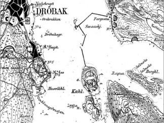 Utsnitt av kart fra 1905 utarbeidet av Norges Geografiske Oppmåling. Jeteen er tydelig avmerket.